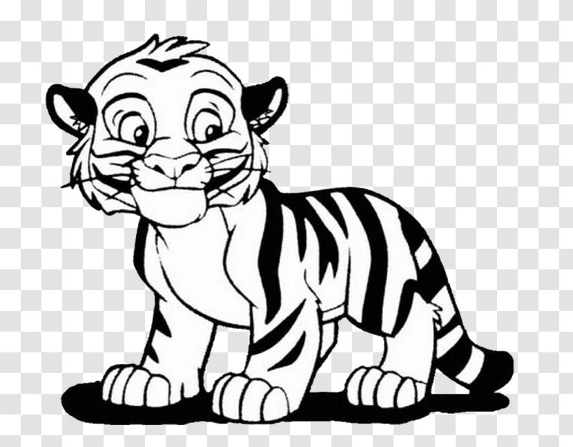 Bengal Tiger Coloring Book Lion Cuteness Child Small To Medium Sized Cats Transparent Png