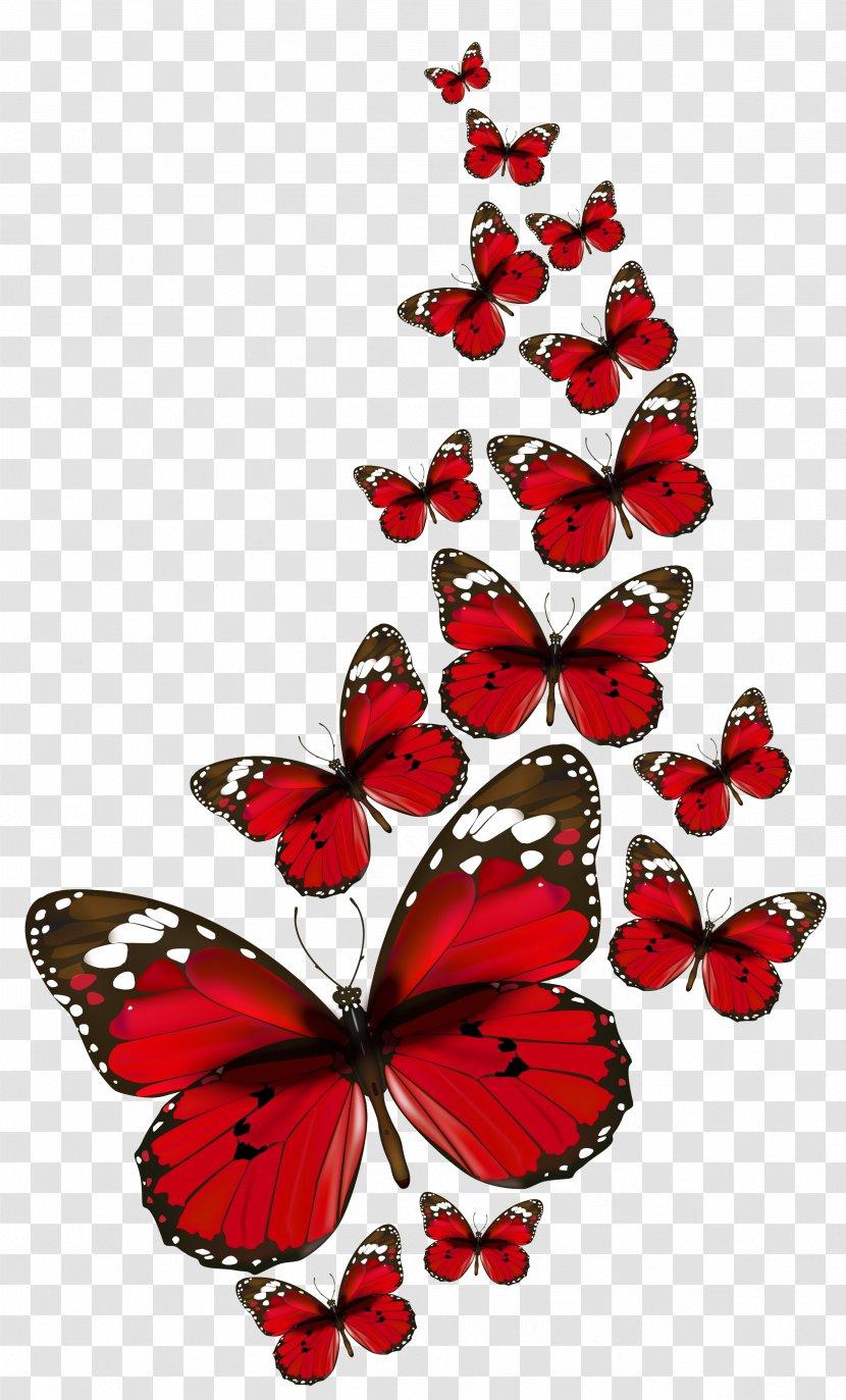 Butterfly Clip Art Invertebrate Red Butterflies Vector Clipart Transparent Png