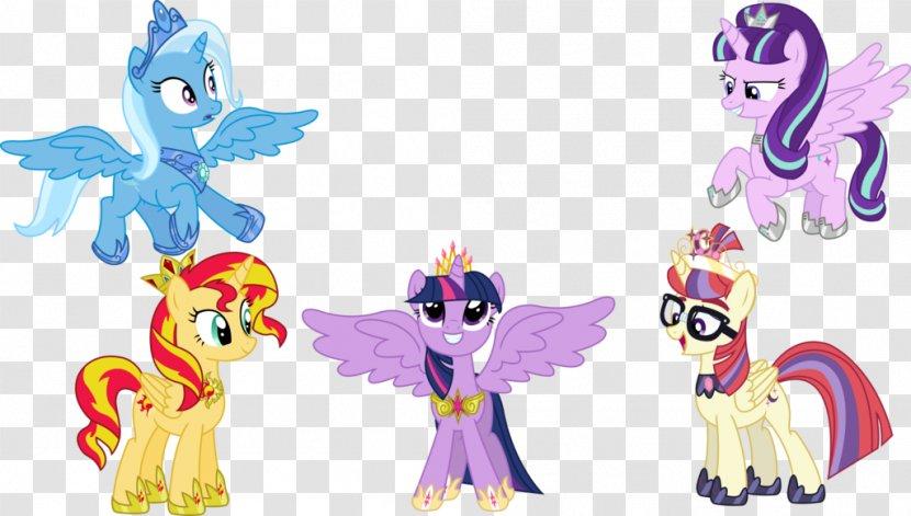 Twilight Sparkle Sunset Shimmer Princess Celestia Luna Winged Unicorn My Little Pony Transparent Png