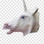 Unicorn Horse Head Mask Costume Child Transparent Png