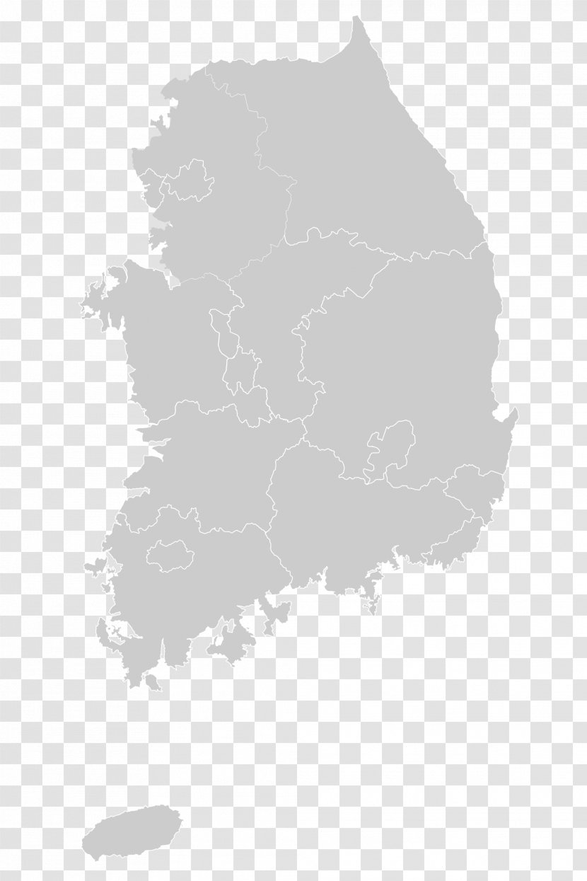 Religion In South Korea North Map Transparent Png