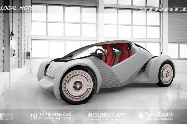 Американская компания начнет собирать электромобили, напечатанные на 3D-принтере уже в сентябре