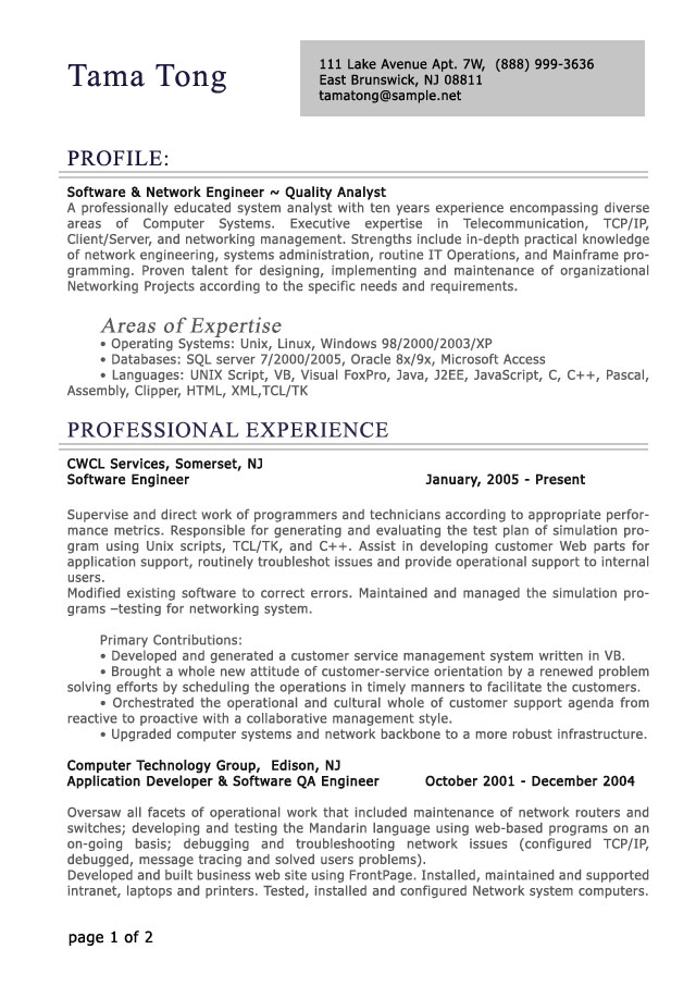 Sample Resumes For Professionals Sample Professional Resume Templates  Professional Engineering Resume Sample Resumecompanioncom Resume Examples  Best