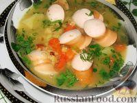 Фото к рецепту: Суп из чечевицы с сосисками