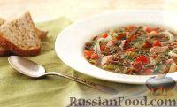 Фото к рецепту: Суп с ветчиной и диким рисом (в медленноварке)