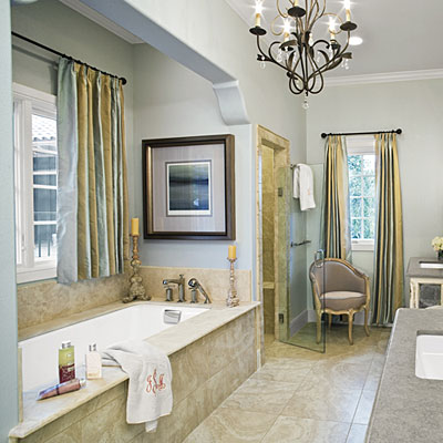 Neutral Master Bathroom Luxurious Master Bathroom Design Ideas Southern Living