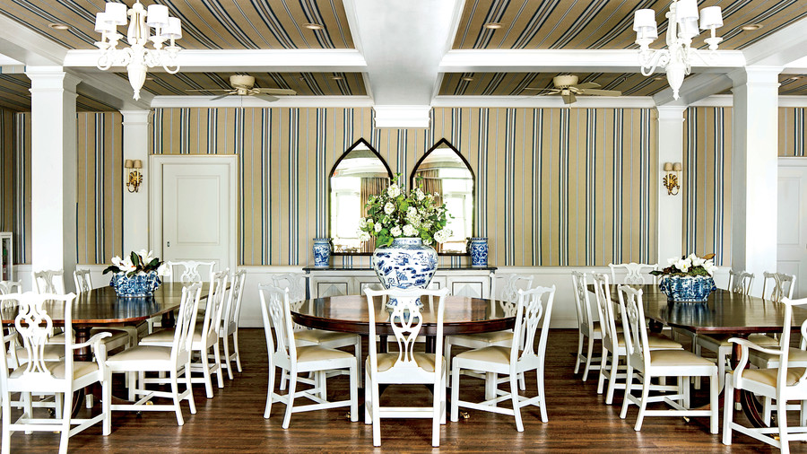 The South s Most Beautiful Sorority Houses   Southern Living Kappa Kappa Gamma University of Arkansas Dining Room