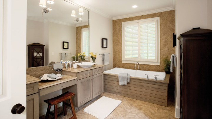 Master Bathroom Ideas for a Calming Retreat   Southern Living Design a Modern Tub Surround