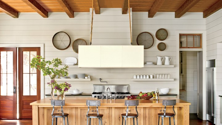15 Ways with Shiplap   Southern Living Open Kitchen with Shiplap Walls