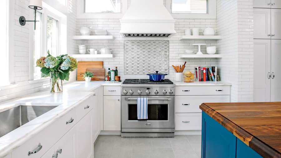 Shaker kitchen with great palette