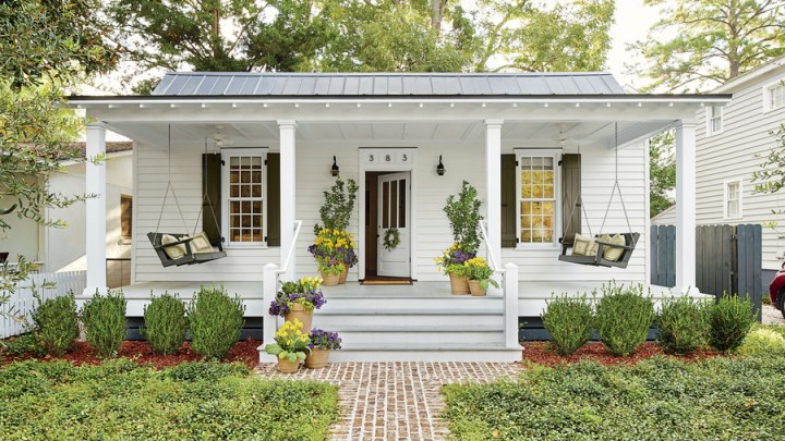 Before and After Porch Makeovers That You Need to See to Believe     Southern White Porch with Swings