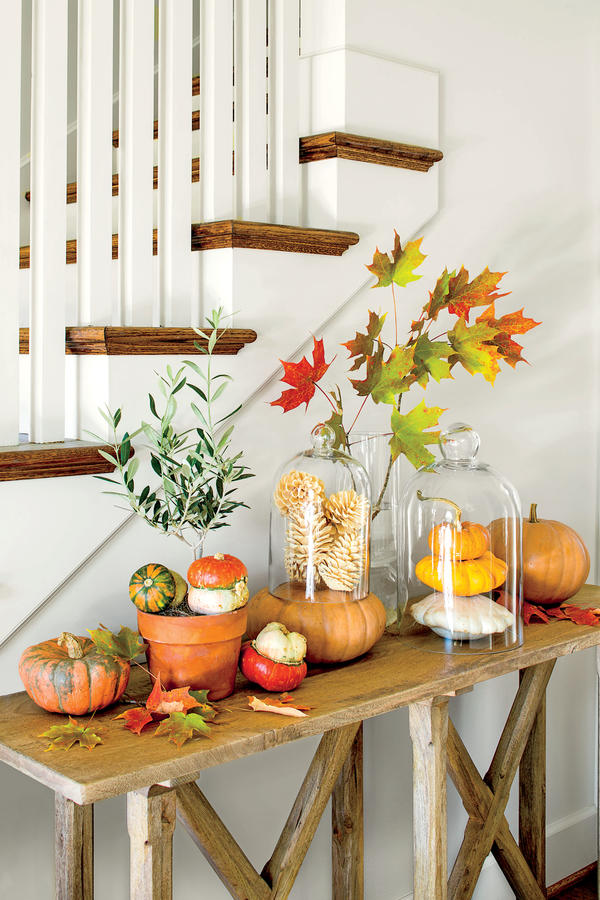 Easy Fall Decor Using Natural Inexpensive Grocery Supplies Www Theyummylife Com