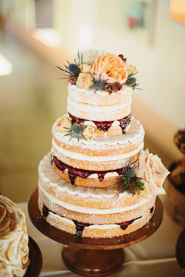 Gorgeous Fall Wedding Cakes We re Drooling Over   Southern Living Naked Fall Wedding Cake