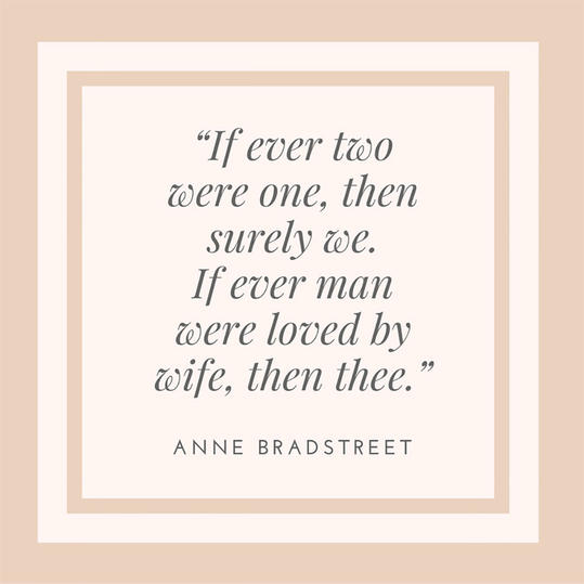 Anne Brtreet On Marriage