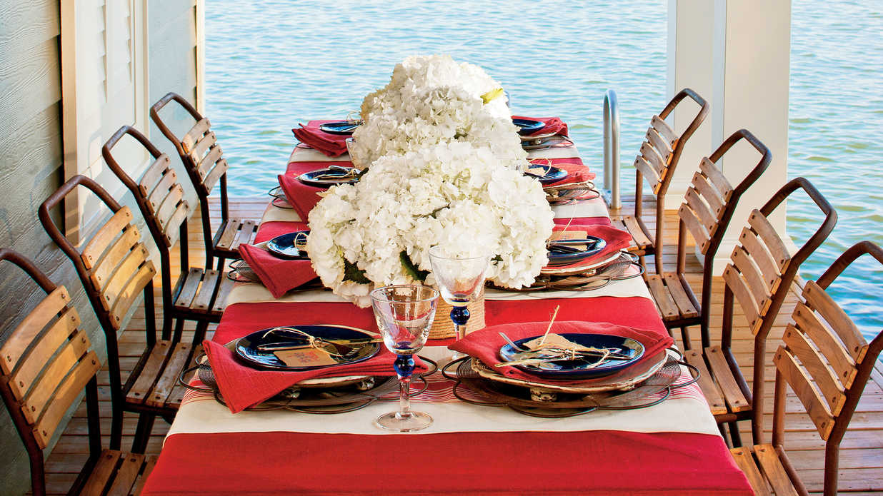 A Patriotic Table Setting Southern Living