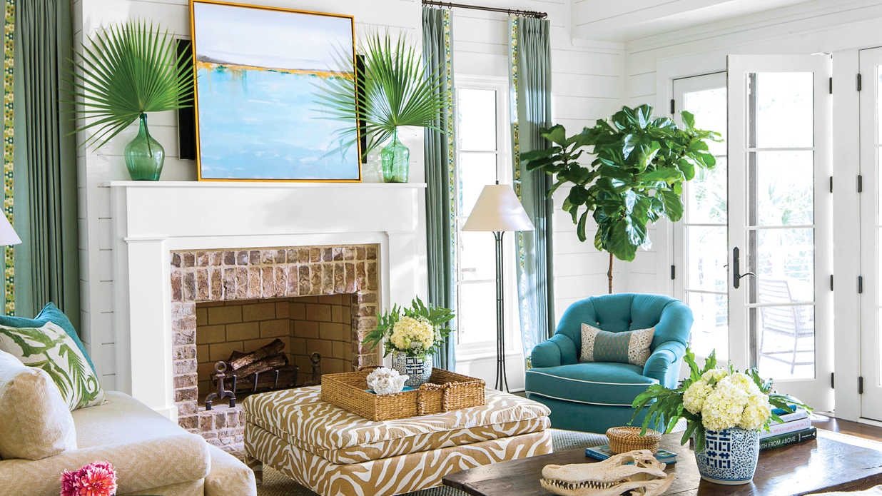 beach living room southern living