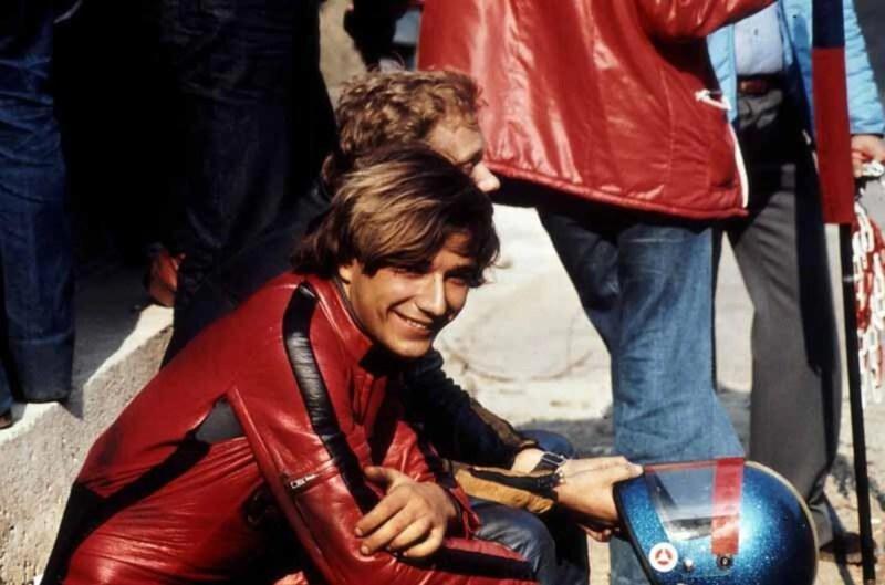 Elio De Angelis nel 1976. Foto: Lynn Thompson