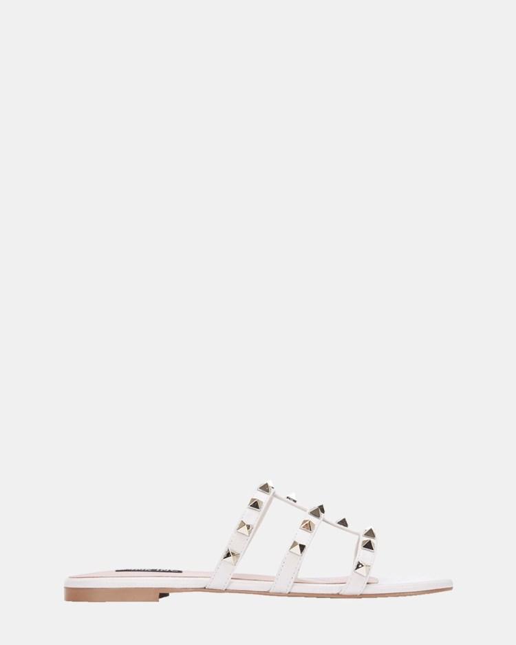 Pink Inc Spain Slides WHITE