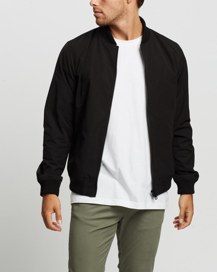 AERE Recycled Bomber Jacket Coats & Jackets Black