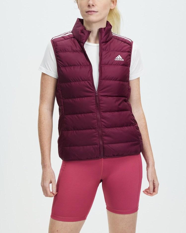 adidas Performance Essentials Light Down Vest Coats & Jackets Victory Crimson