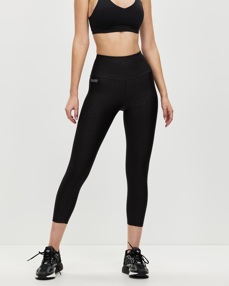 Brasilfit Alice High Waisted Mid Calf Tights all compression Black High-Waisted