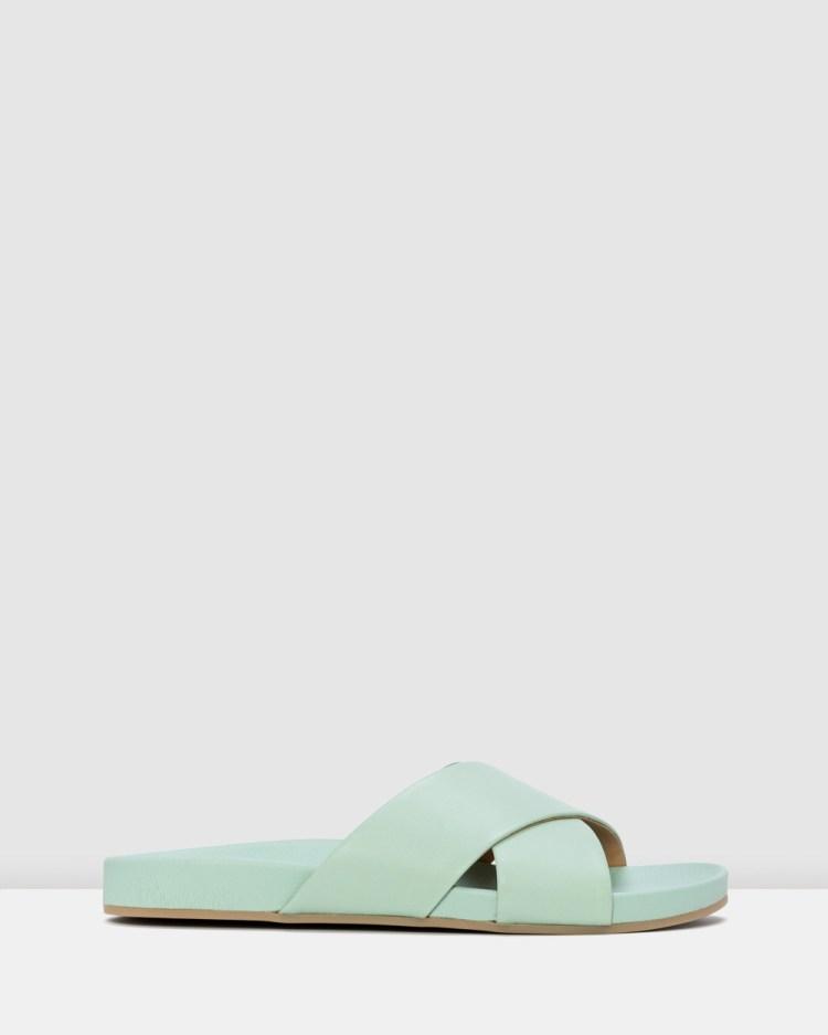 Rollie Tide Cross Slide Sandals Green