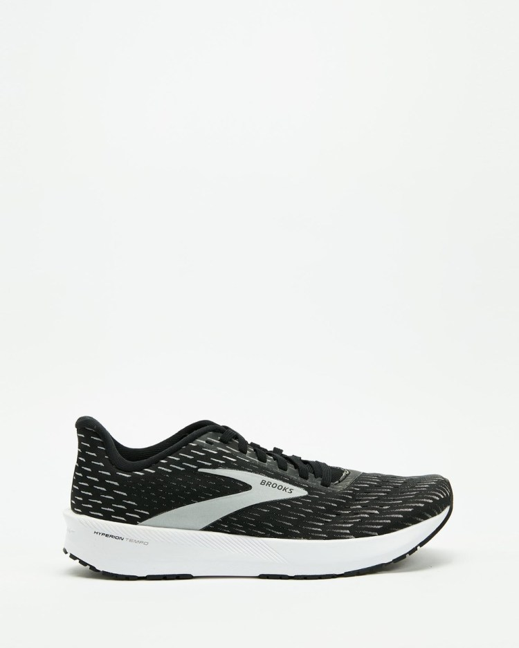 Brooks Hyperion Tempo Womens Performance Shoes Black, Silver & White
