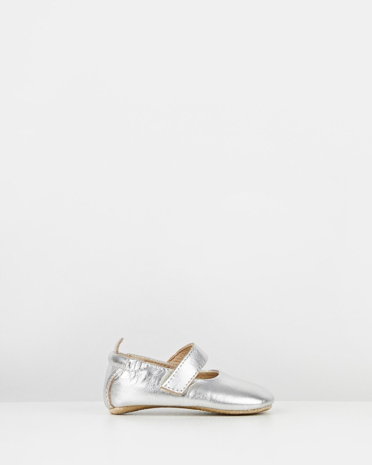 Old Soles Gabrielle Mary Jane Ballet Flats Silver