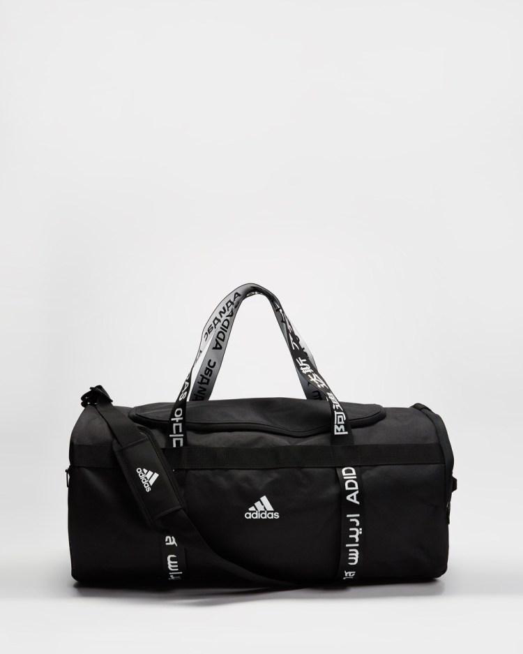 adidas Performance 4ATHLTS Large Duffle Bag Bags Black, Black & White