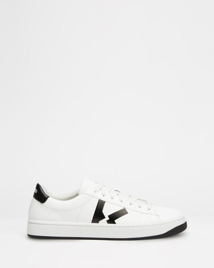 Kenzo K Logo Lace Up Sneakers White K-Logo Lace-Up
