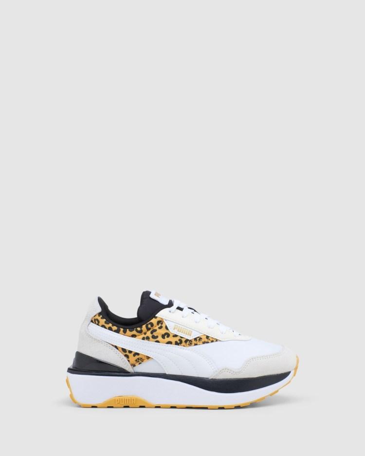 Puma Cruise Rider Roar Grade School Sneakers White/Leopard