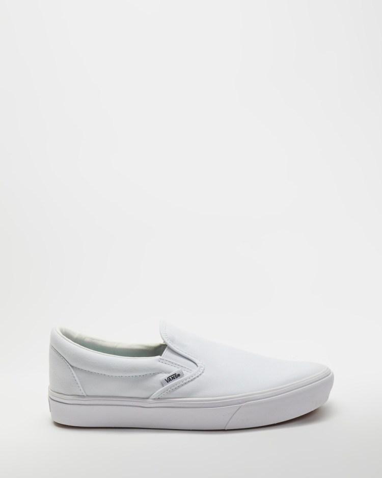 Vans ComfyCush Slip On Classic Unisex Slip-On Sneakers White