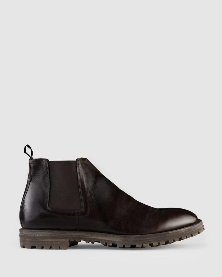 Aquila Zane Chelsea Boots Dress Chocolate