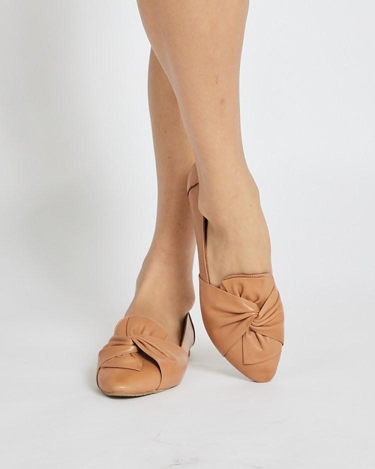Sandler Rosco Ballet Flats TAN