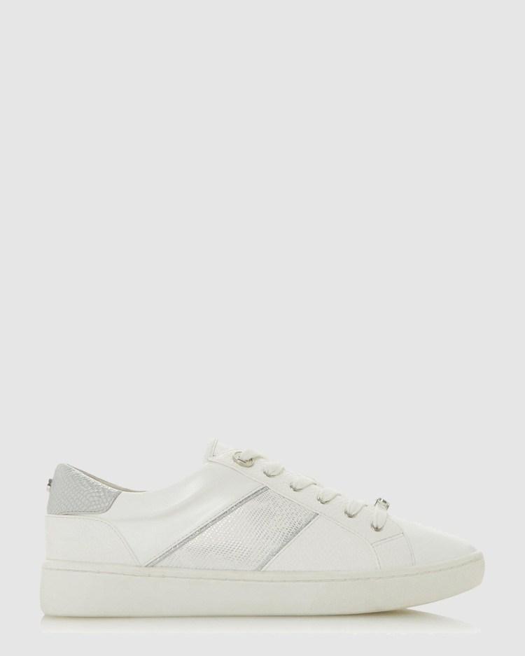 Dune London Everlee Low Top Sneakers White