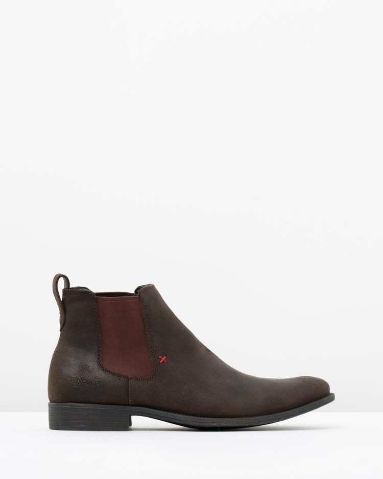 Windsor Smith Princeton Boots Brown Oil Suede