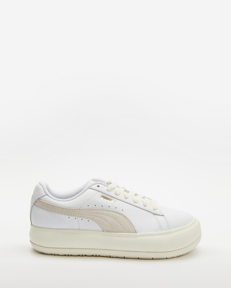 Puma Suede Mayu Leather Sneakers Womens Lifestyle Puma White Marshmallow