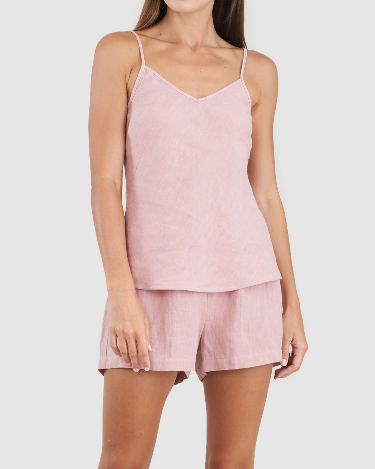 Amelius Grace Linen Cami and Short Set All gift sets Dusty Rose
