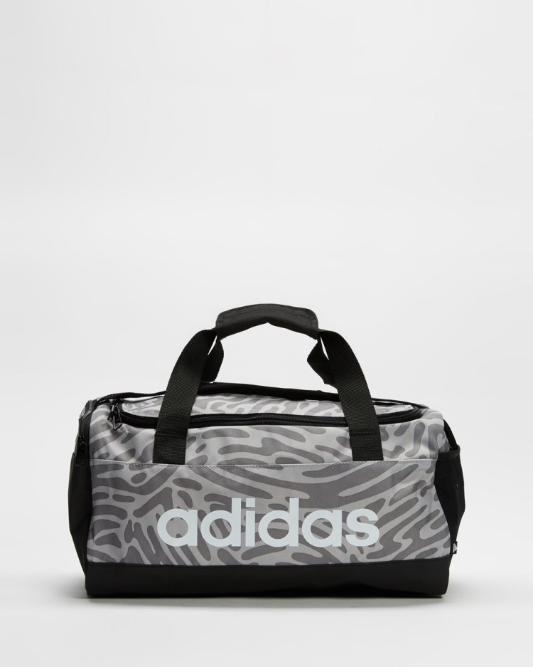 adidas Performance Graphic Duffel Duffle Bags Black, White and Grey