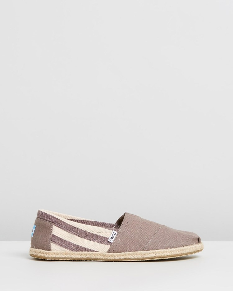 TOMS University Classics Men's Casual Shoes Grey Stripe