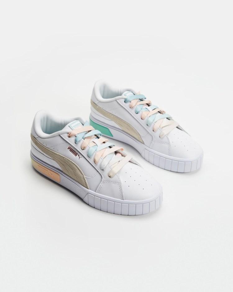 Puma Cali Star Gloaming Womens Lifestyle Sneakers Puma White, Ivory Glow & Eggshell Blue
