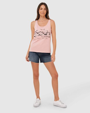 Superdry Vintage Logo Photo Rose Vest Singlets Soft Pink