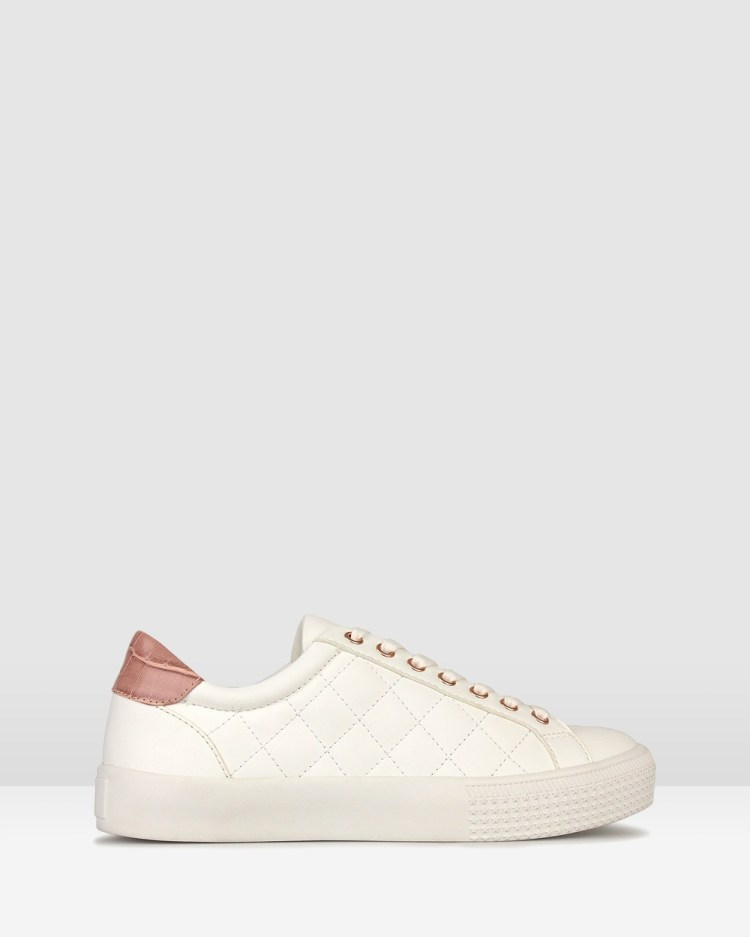 Betts Pugsy Quilted Sneakers Low Top White/Pink