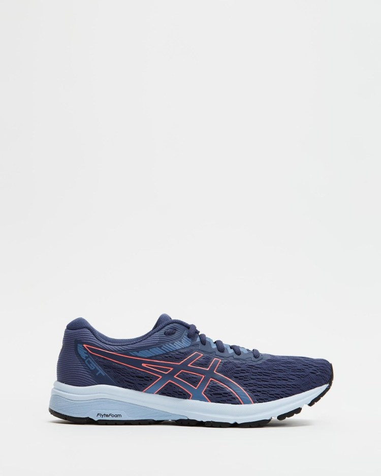 ASICS GT 800 Womens Performance Shoes Thunder Blue & Blazing Coral GT-800