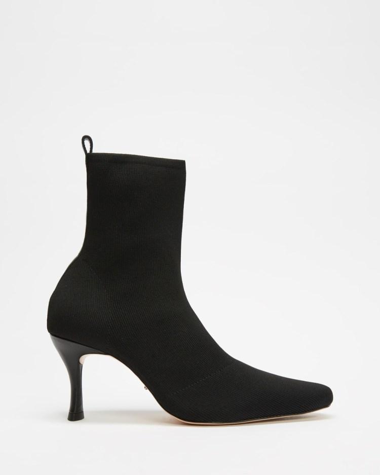 Tony Bianco Kossam Boots Heels Black Knit