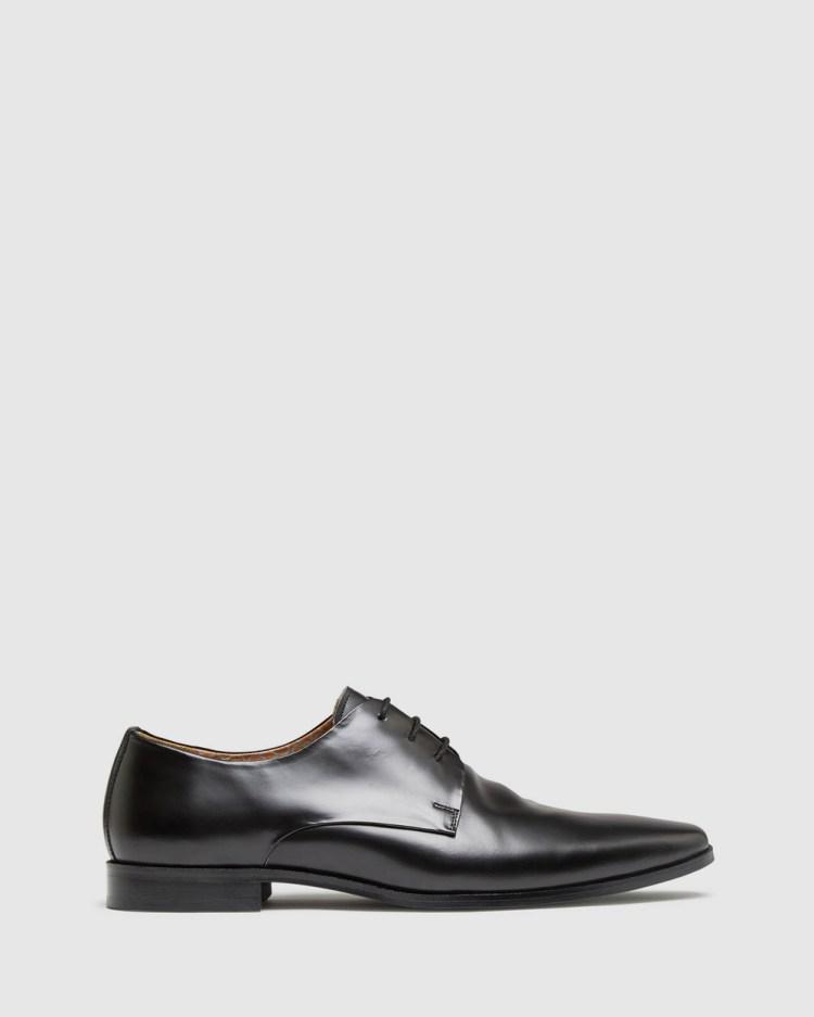 Oxford Henrick Leather Derby Shoes Dress Black