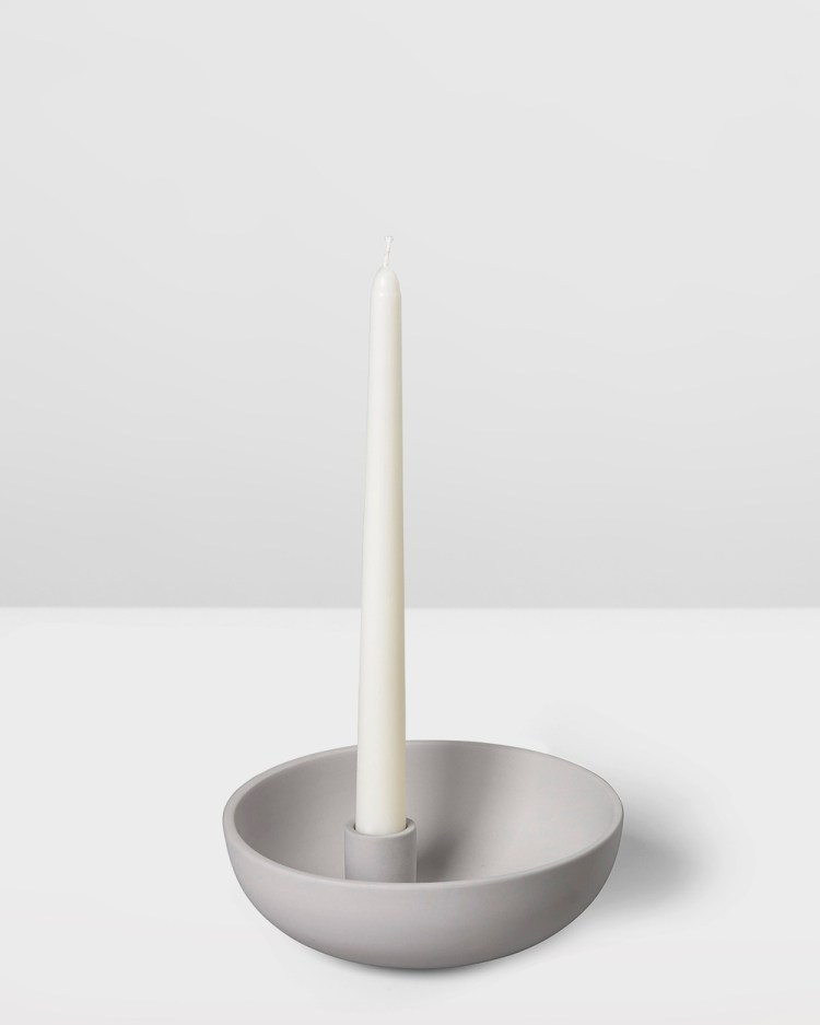 Aery Living Orbital Ceramic Candle Holder Medium Home Grey