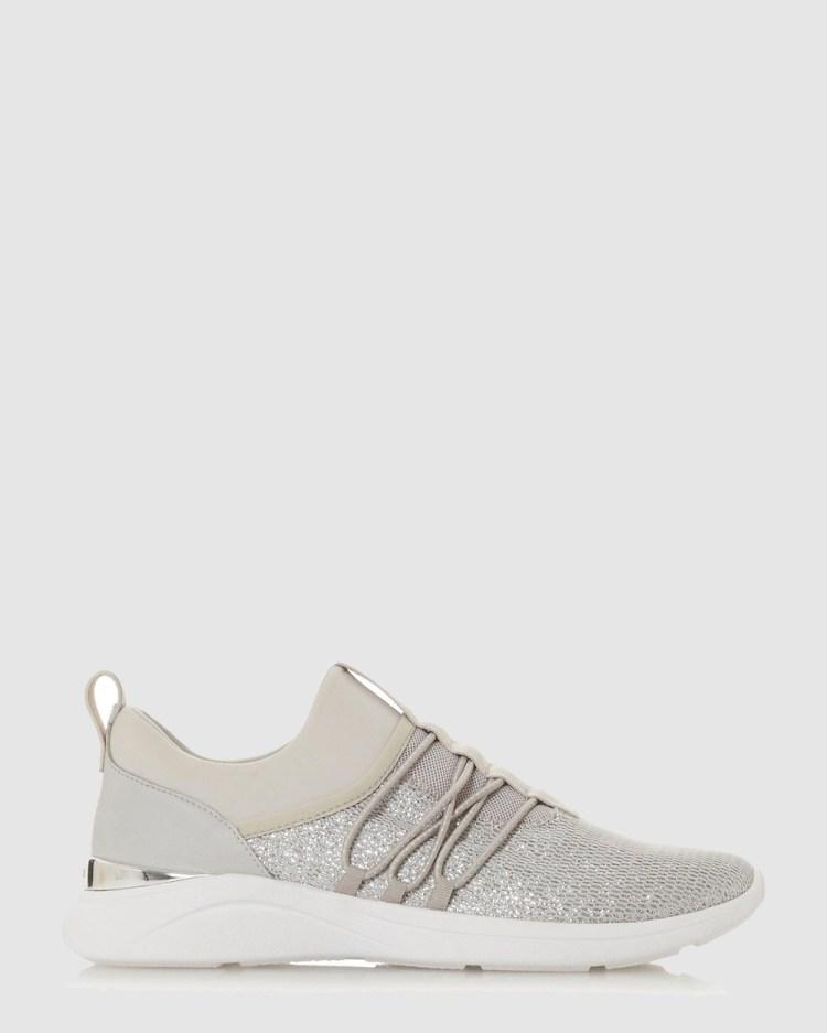 Dune London E Elwood Low Top Sneakers Grey