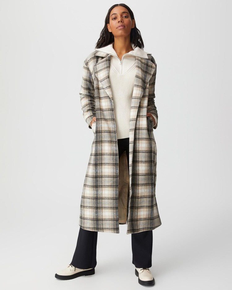 Cotton On The Belted Longline Coat Trench Coats Winter Check