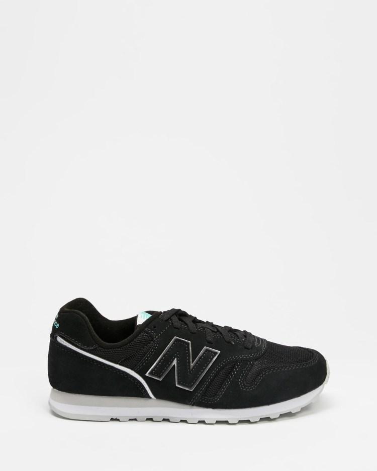New Balance Classics 373 Women's Lifestyle Sneakers Black & White 048